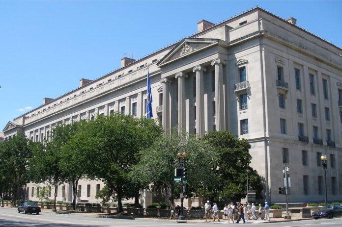 https://upload.wikimedia.org/wikipedia/commons/thumb/3/3b/U.S._Department_of_Justice_headquarters%2C_August_12%2C_2006.jpg/800px-U.S._Department_of_Justice_headquarters%2C_August_12%2C_2006.jpg
